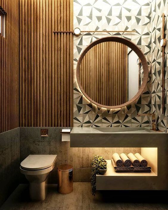 How to make a statement with your guest powder room